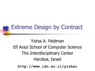 Extreme Design by Contract