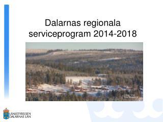 Dalarnas regionala serviceprogram 2014-2018