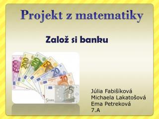 Projekt z matematiky