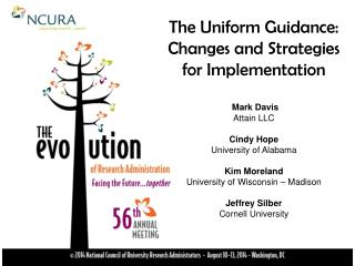 The Uniform Guidance:  Changes and Strategies for  Implementation Mark Davis Attain LLC