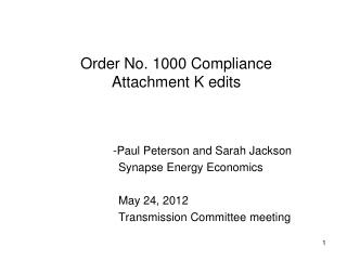 Order No. 1000 Compliance Attachment K edits