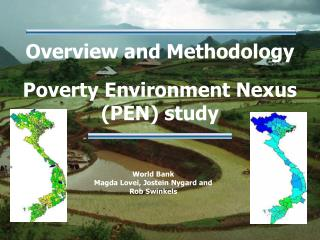 Overview and Methodology   Poverty Environment Nexus PEN study