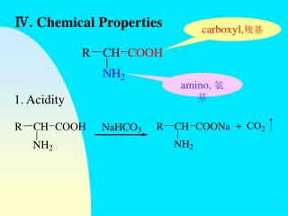 Ⅳ. Chemical Properties