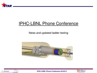 IPHC-LBNL Phone Conference News and  updated ladder testing