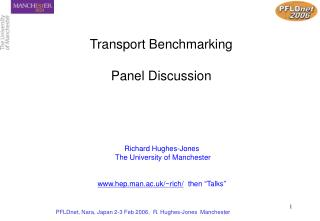 Transport Benchmarking   Panel Discussion