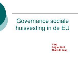Governance sociale huisvesting in de EU