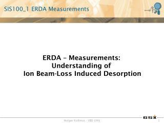 SIS100_1 ERDA Measurements