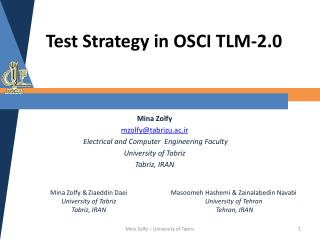 Test Strategy in OSCI TLM-2.0