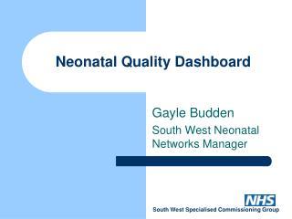 Neonatal Quality Dashboard