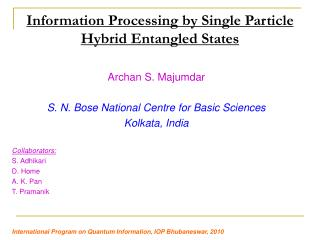 Information Processing by Single Particle Hybrid Entangled States