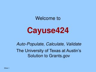 Cayuse424