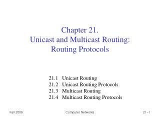 Chapter 21 .  Unicast and Multicast Routing: Routing Protocols