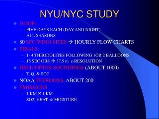NYU/NYC STUDY