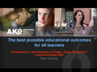 The best possible educational outcomes for all learners