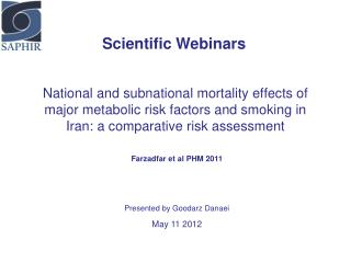 Scientific Webinars
