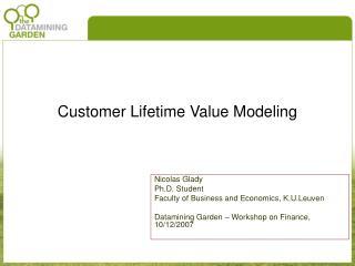 Customer Lifetime Value Modeling