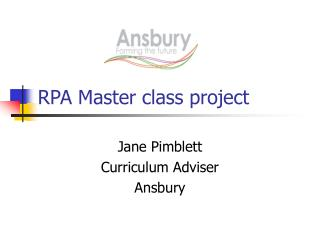 RPA Master class project
