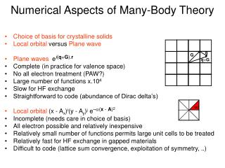 Numerical Aspects of Many-Body Theory