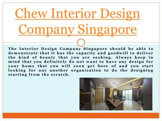 Chew Interior Singapore