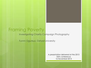 Framing Poverty