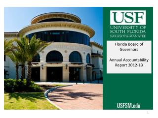 Florida Board of Governors Annual Accountability Report 2012-13