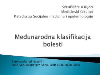 Međunarodna klasifikacija bolesti