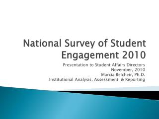 National Survey of Student Engagement 2010