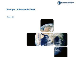 Sveriges utrikeshandel 2009