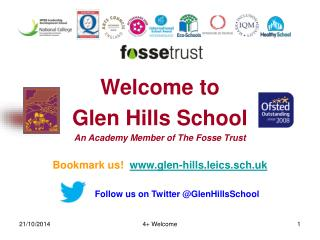 Welcome to  Glen Hills School An Academy Member of The Fosse Trust