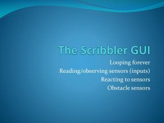 The Scribbler GUI