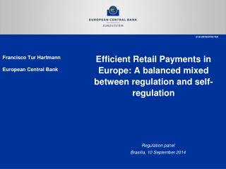 Efficient Retail Payments in Europe: A balanced mixed between regulation and self-regulation