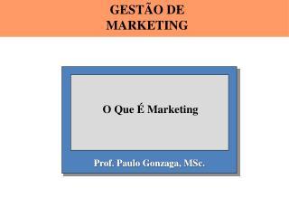 Prof. Paulo Gonzaga,  MSc .