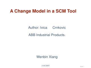 A Change Model in a SCM Tool