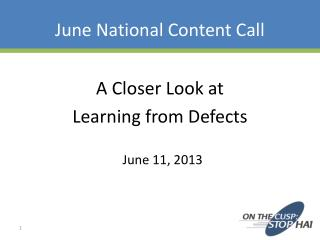 June National Content Call