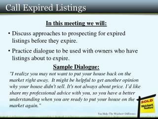 Call Expired Listings