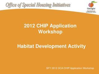 Habitat Development Activity