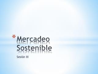 Mercadeo Sostenible
