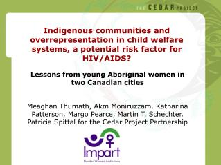 Lessons from young Aboriginal women in two Canadian cities