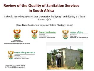 Review of the Quality of Sanitation Services in South Africa