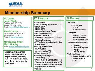 Established Air Breathing Propulsion TC's NASA ERA   NASA SFW Atmospheric and Space