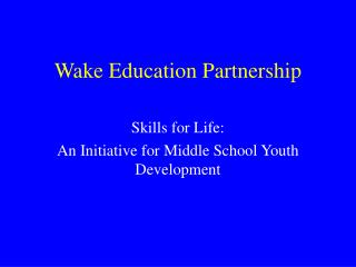 Wake Education Partnership