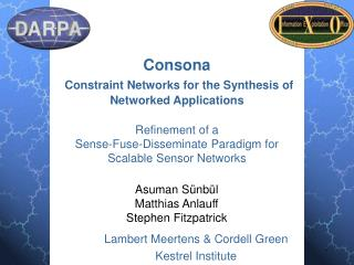 Consona Constraint Networks for the Synthesis of Networked Applications