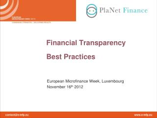 Financial Transparency  Best Practices