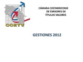 GESTIONES 2012