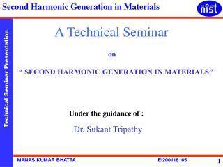 A Technical Seminar