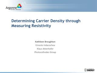 Determining Carrier Density through Measuring Resistivity