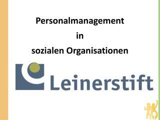 Personalmanagement in  sozialen Organisationen