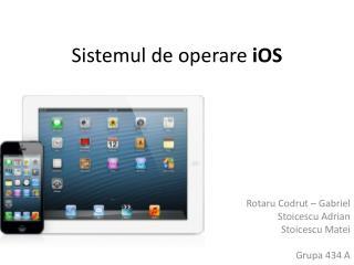 Sistemul de operare  iOS