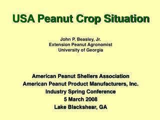 USA Peanut Crop Situation