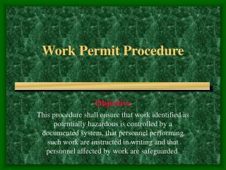 Work Permit Procedure